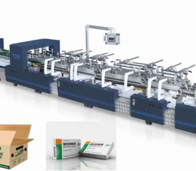 ST-850BTG  Smart 4/6 corner box folding and gluing machine